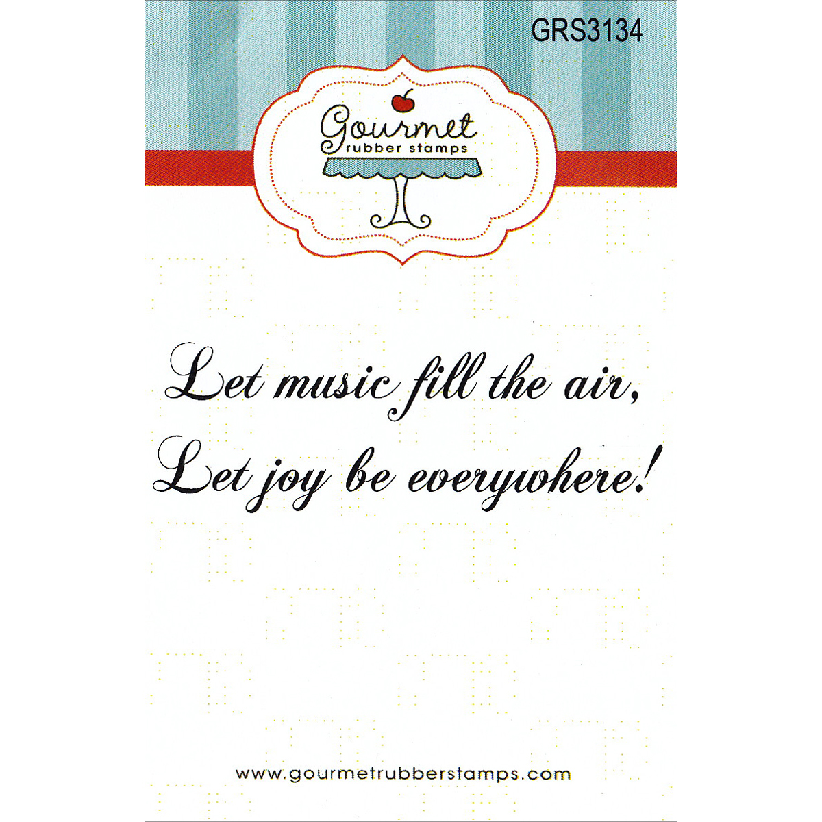 "Gourmet Rubber Stamps Cling Stamps 2.75""X4.75""-Let Music Fill The Air"