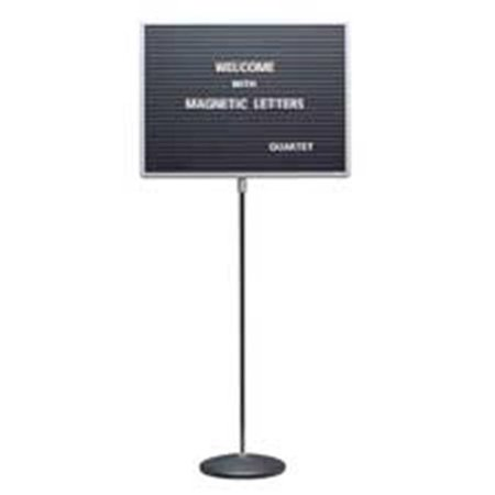 - Quartet QRT7921M Message Board W-Stand- Magnetic- Square Corners- 24in.x18in.- GY