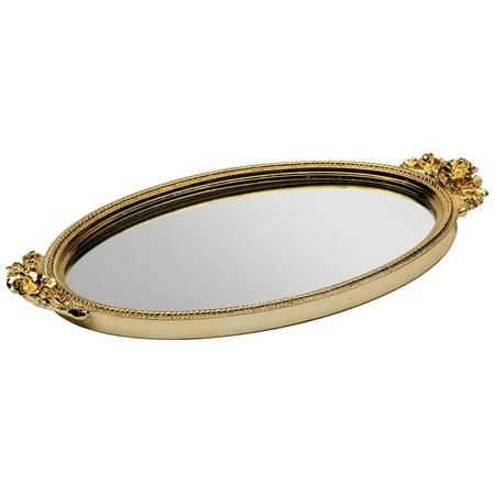 Rose Garland Mirror - Rose Mirror Tray