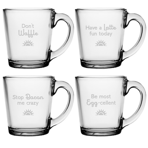 Susquehanna Glass Breakfast Club Coffee Mug (Set of 4)