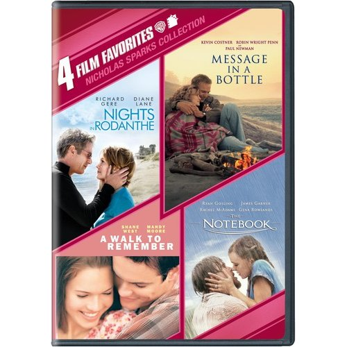 4 Film Favorites: Nicholas Sparks Romances - Nights In Rodanthe / The Notebook / Message In A Bottle / A Walk To Remember