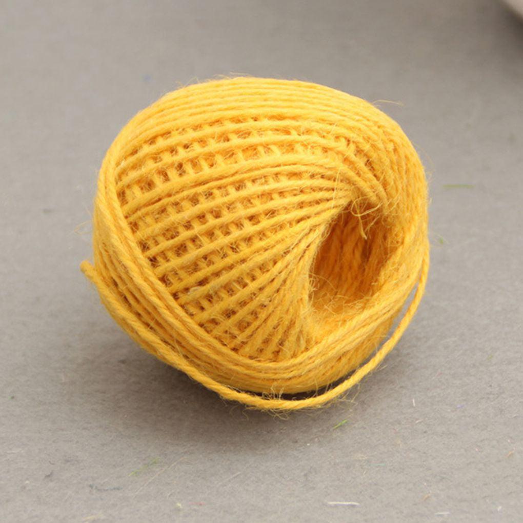 50m Natural Jute Twine 2mm Hemp Cord Jute Rope String Gift Twine Industrial Packing Materials Arts Crafts Gardening