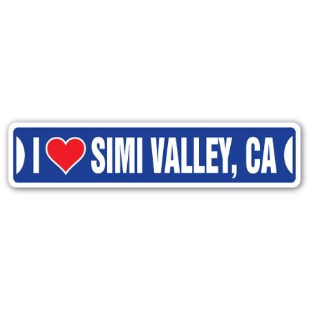 I LOVE SIMI VALLEY, CALIFORNIA Street Decal ca city state us wall road décor gift ()