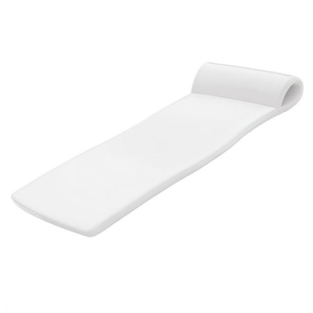 TRC Recreation Sunsation 70 Inch Thick Foam Raft Lounger Mat Pool Float, White