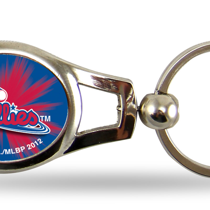 Philadelphia Phillies Official MLB 2 inch  Oval Key Chain Keychain by Rico