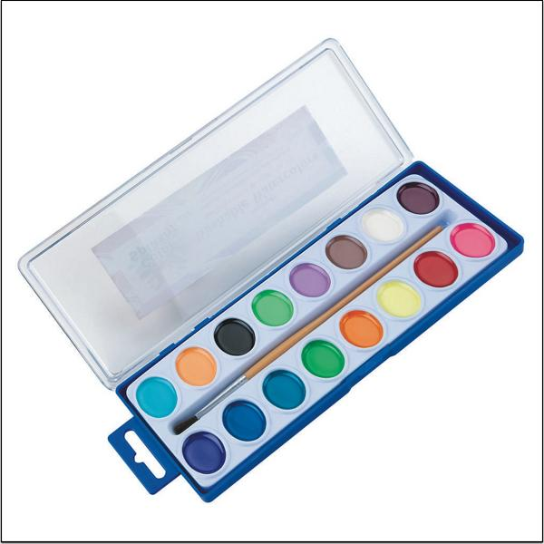 (Price/each)Color Splash! Watercolor Paint Set, 16 colors