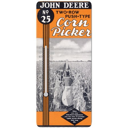 John Deere Corn Picker Ad Thermometer   Temperature In Celsius And Fahrenheit  By Key Enterprises