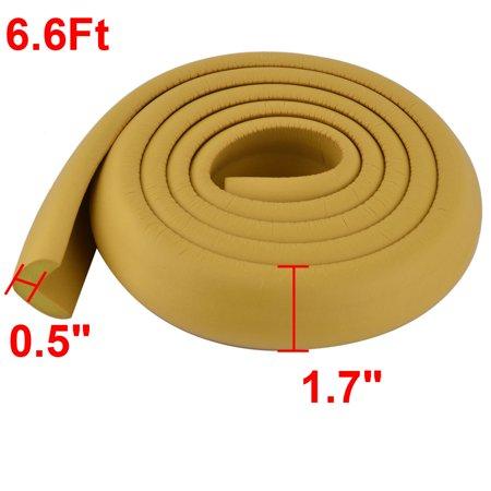 Flat Furniture Foam Rubber Safety Corner Edge Protector Cushion Wood Color 2 Pcs - image 3 de 5