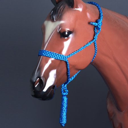 CLASSIC EQUINE BRAIDED STRONG UV PROTECT HORSE ROPE HALTER W/ 8' LEAD - Classic Show Halter