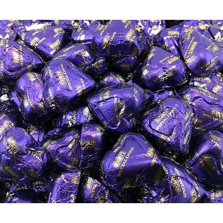 Hershey's Valentine's Hearts Dark Chocolate Candy, Purple, Bulk Pack (Pack of 2 Pounds)](Purple Chocolates)