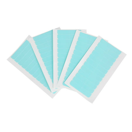 5 Sheets 60pcs Hair Tape Adhesive Glue 4cm*0.8cm Double Side Tape Waterproof For Lace Wig Hair Extension