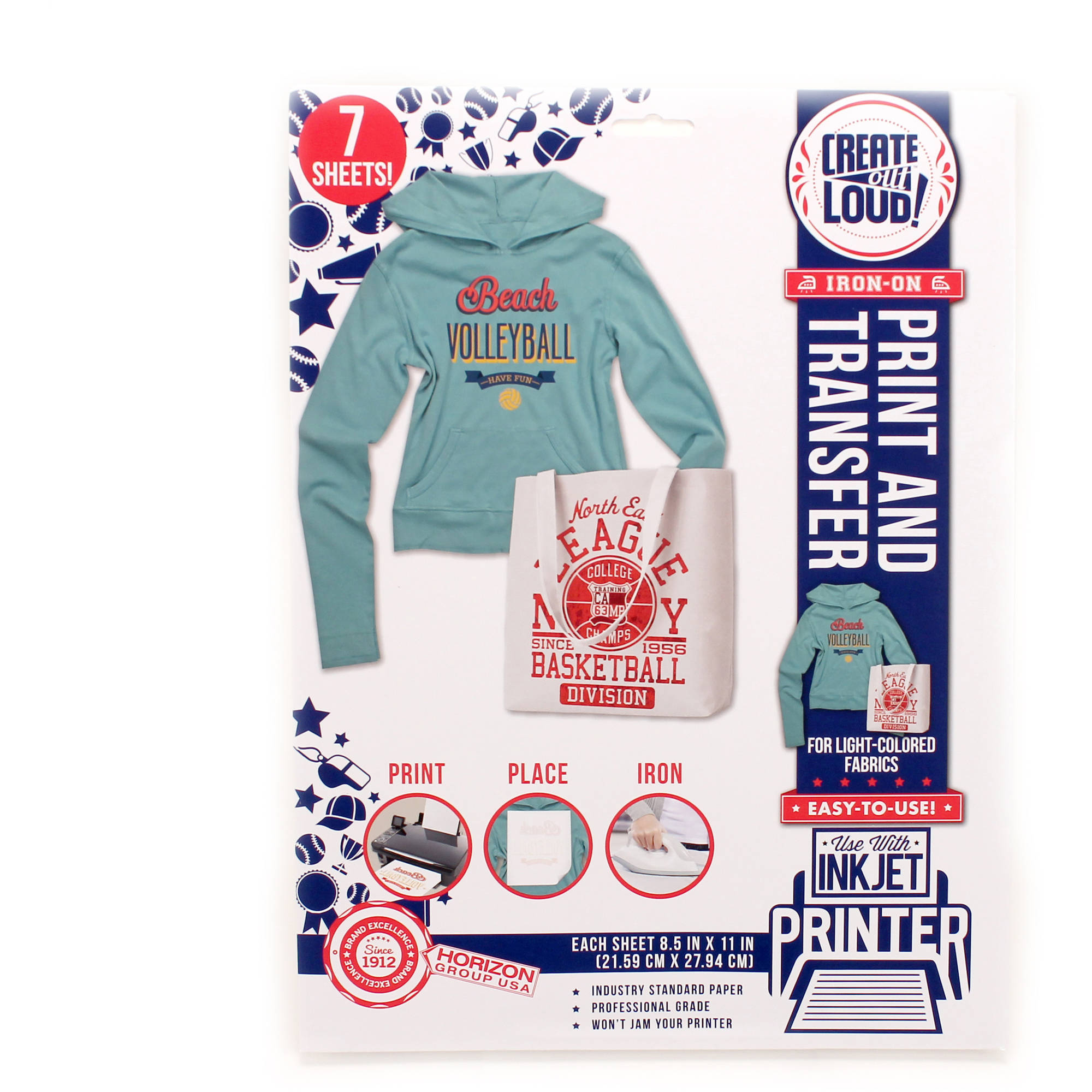 Create out Loud Light T-Shirt Transfer Sheets by Horizon Group USA