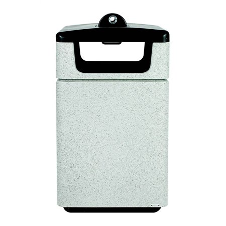 Ash Fiberglass Container (Fiberglass Ash and Trash Receptacle with Hide-a-Butt Feature (Graystone) )