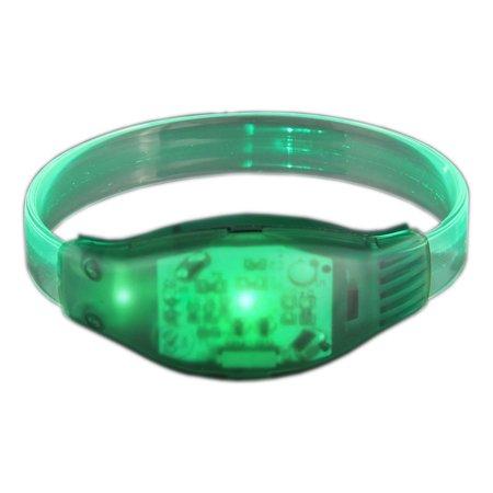 Led Light Bracelet (Sound Activated Green LED)