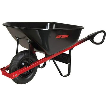 True Temper C6TC14 6 Cubic Foot Total Control Steel Wheelbarrow