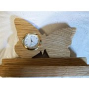 Fine Crafts 172ANI Wooden Butterfly miniature desk clock