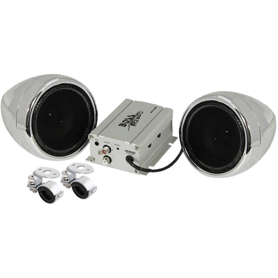 BOSS AUDIO MC420B 600 Watt BT Stereo Systems Chrome
