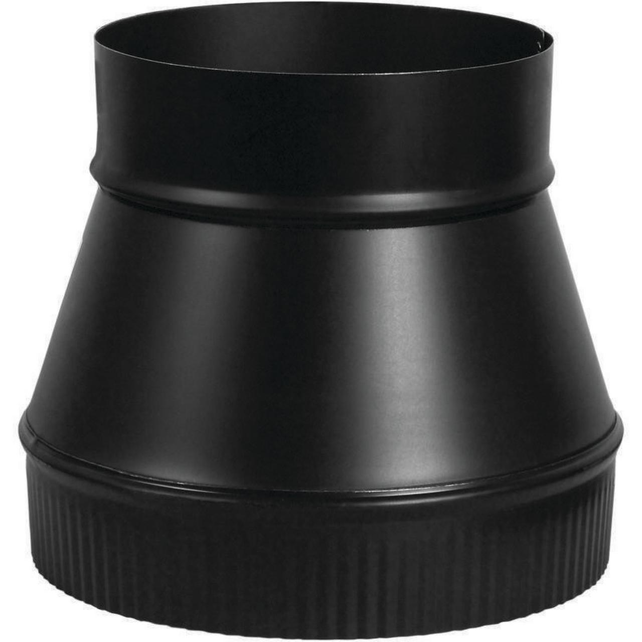 Imperial BM0059 1-Piece Flue Pipe Increaser, 5 x 6 in, 24 ga, Black