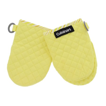 Cuisinart Silicone Mini Oven Mitts – Little Oven Gloves for Cooking-Heat Resistant, Non-Slip Grip, Hanging Loop, 5.5