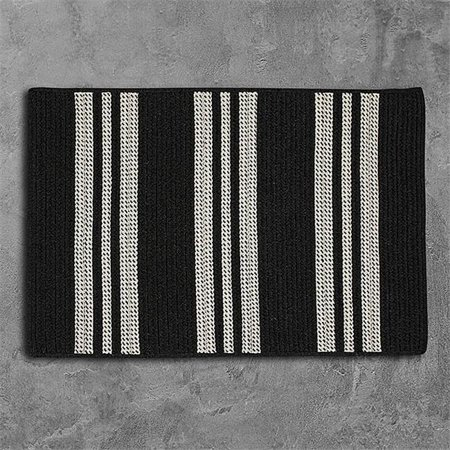 Colonial Mills Rug UH19R060X084S 5 x 7 ft. Sunbrella Southport Stripe Braided Rug  Black - image 1 de 1