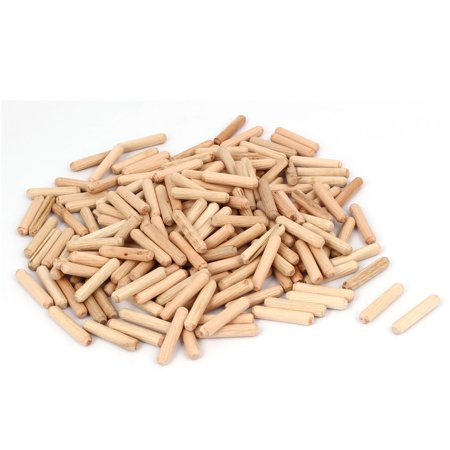 Cabinet Drawer Round Fluted Wood Wooden Craft Dowel Pins 6mm x 30mm 200 Pcs