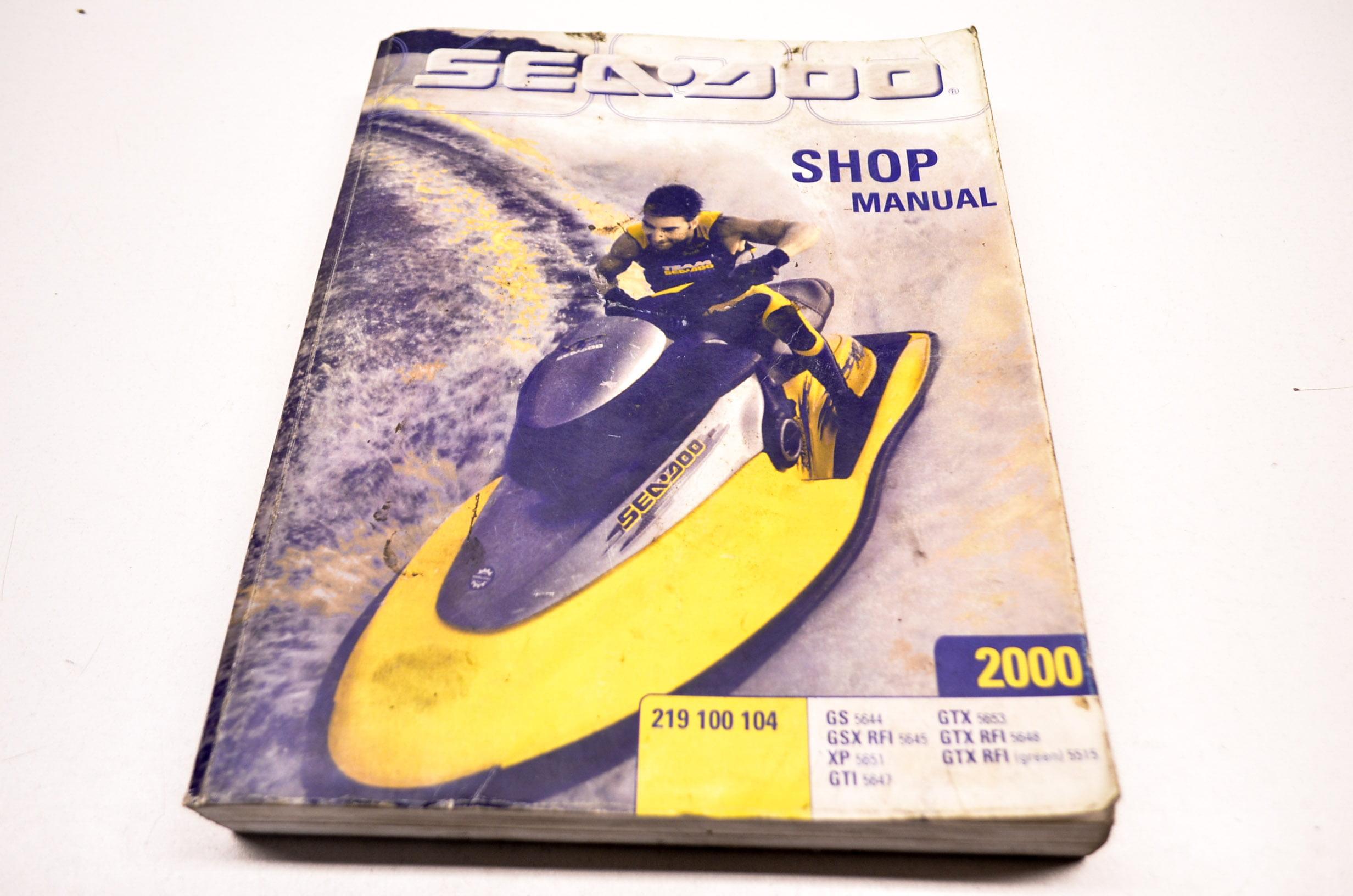 Can-Am, Sea Doo, Ski Doo 219100104 Sea-Doo 2000 Shop Manual Volume 1 QTY 1  - Walmart.com