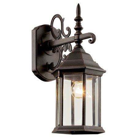 Trans Globe Alicante 4353 Outdoor Wall Bracket Lantern - 14H (Black Small Outdoor Wall Lantern)