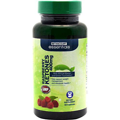 Betancourt Essentials Raspberry Ketones - 60 Capsules - 400mg