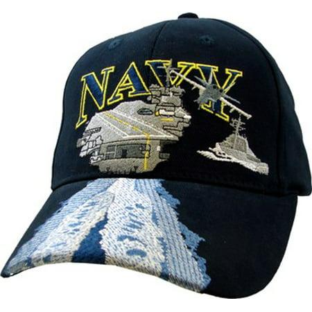 Eagle Crest - Navy USN with Aircraft Carrier Embroidered Ball Cap -  Walmart.com 21a5d9b2d57