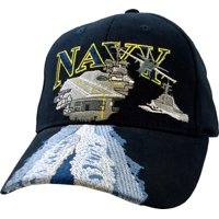 2ef9b8c273b Product Image Navy USN with Aircraft Carrier Embroidered Ball Cap