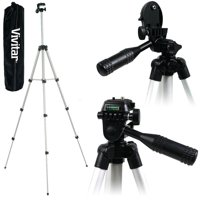 "Lightweight Vivitar 50"" Tripod With Case For Nikon Coolpix AW130 B500 W100 L340"