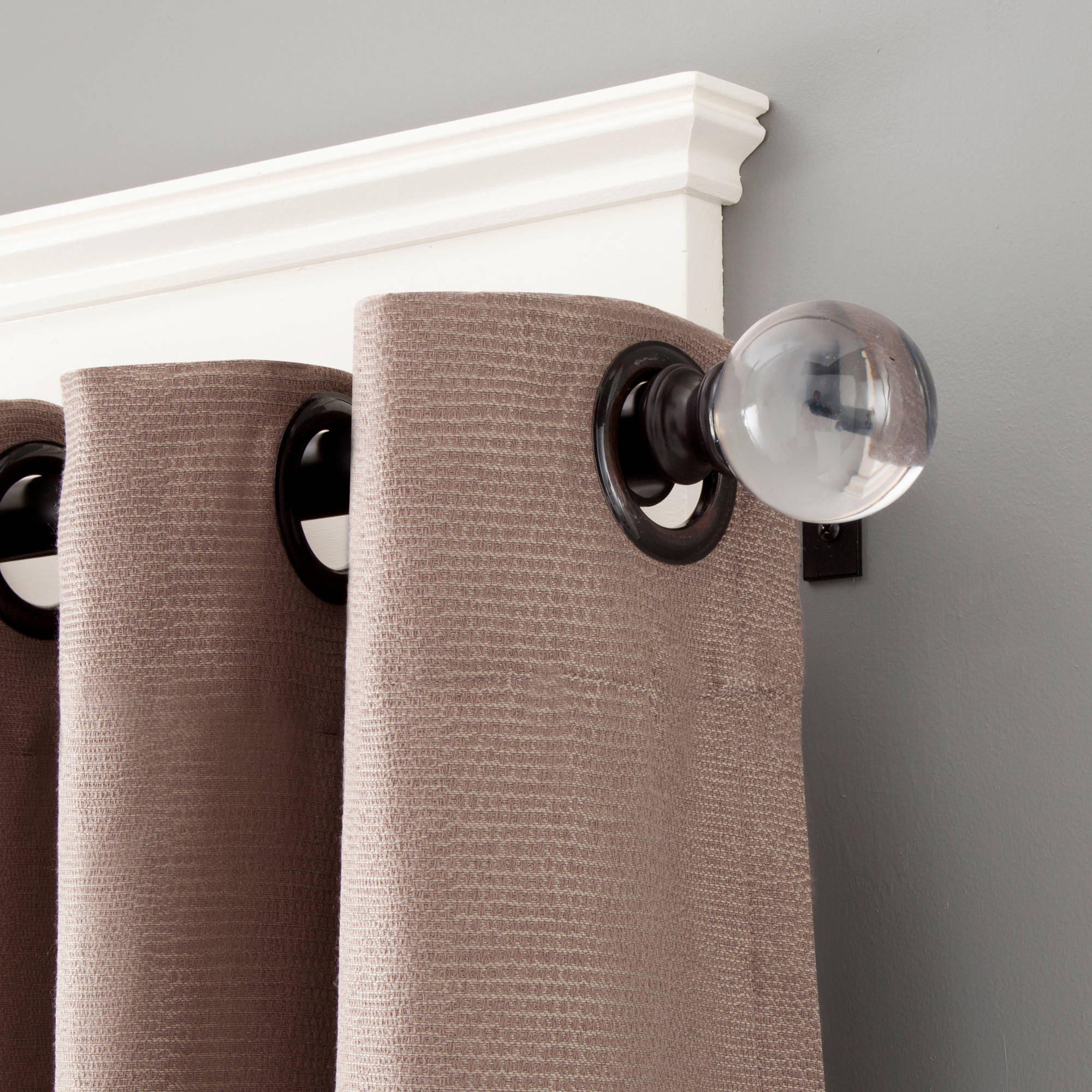 "Kenney 1"" Diameter Clear Ball Curtain Rod"