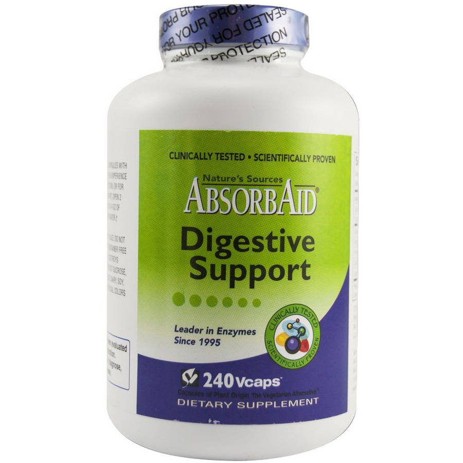 Image of Absorbaid Digestion and Stomach Distress Vegetable Capsules, 240 CT