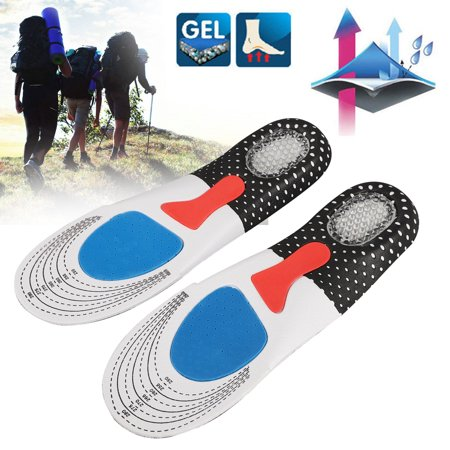 EEEkit Shoes Insoles for Men and Women - Comfort Gel Orthotic Insoles Full Length Plantar Fasciitis Inserts with Arch Support Relieve Flat Feet, High Arch, Foot Pain,