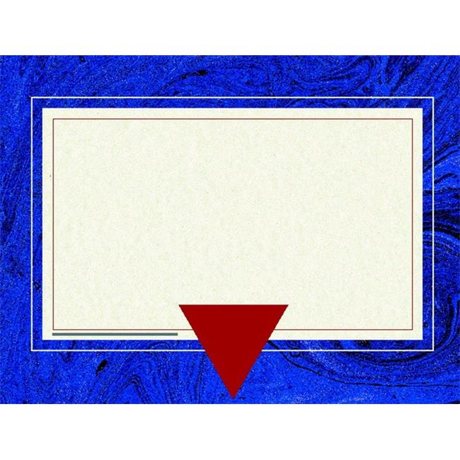 Hayes 070369 Replacement Blank Certificate With Borders, Blue Marble, Pack 50