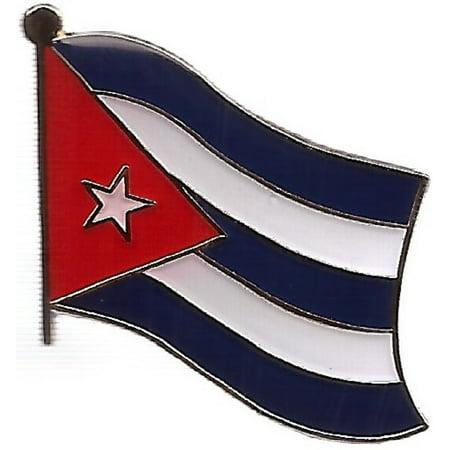 PACK of 3 Cuba Single Flag Lapel Pins, Cuban Pin Badge Flags
