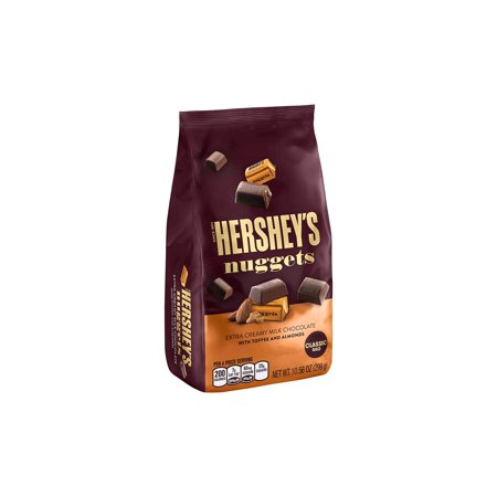 Creamy Toffee (HERSHEY'S Creamy Milk Chocolate w/Toffee and Almonds Stand Up Bag, 10.56 oz, 3 Pack)