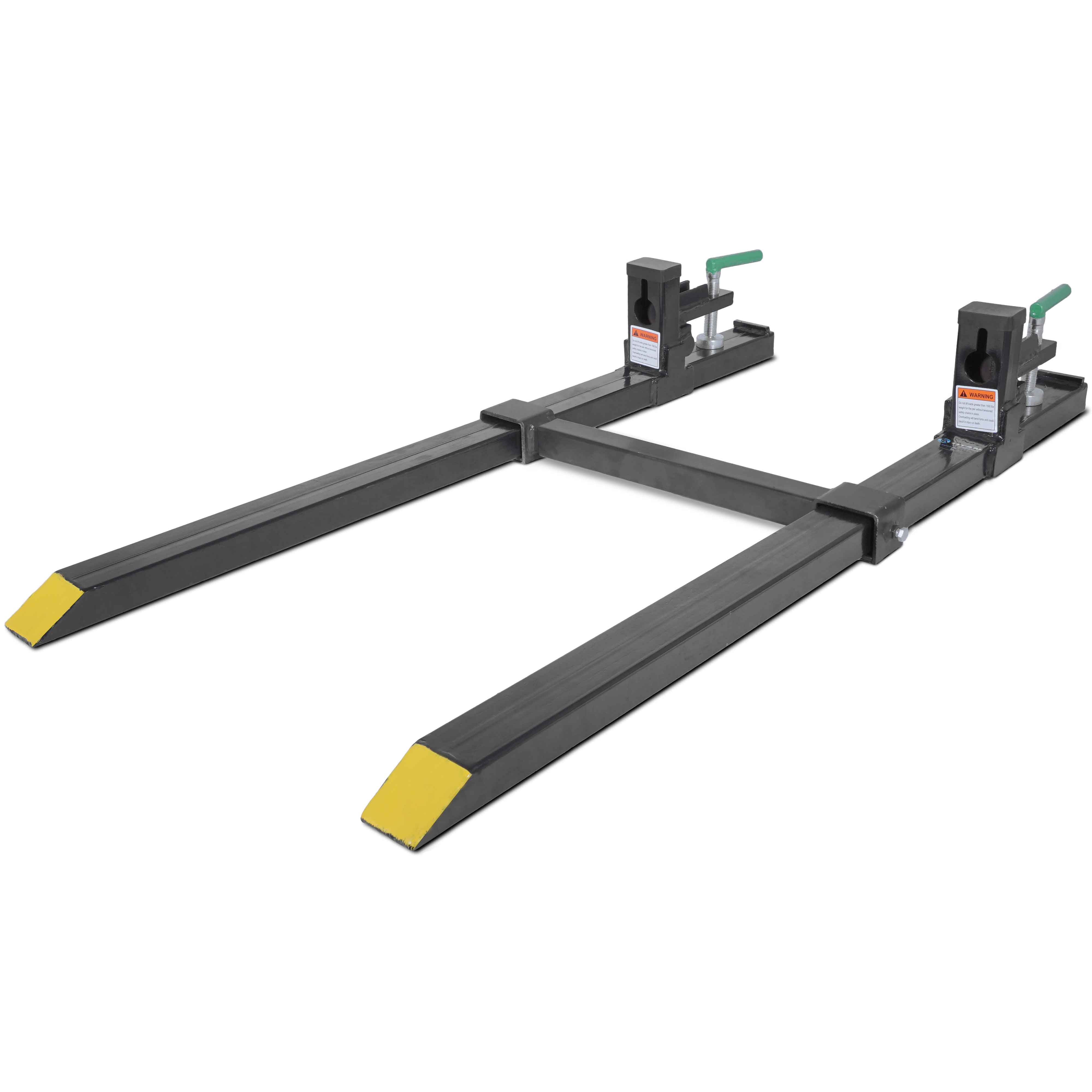 Clamp on Pallet Forks w  Adjustable Stabilizer Bar LW for loaders 1500lb by Titan Attachments