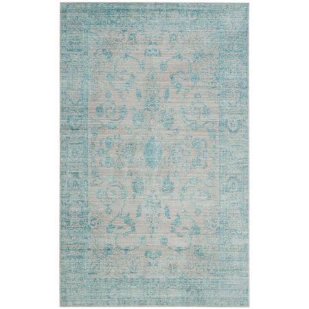 Safavieh Valencia 3' X 5' Power Loomed Polyester Rug in Blue - image 1 of 1