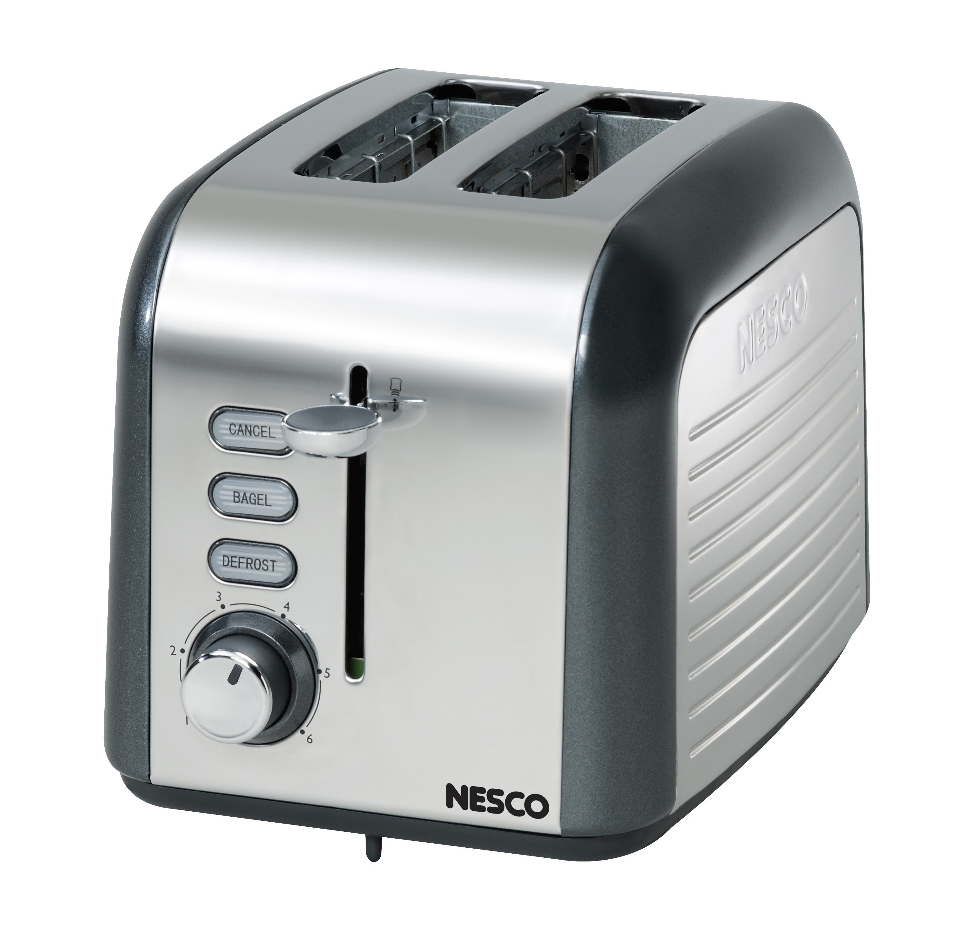 Nesco T1000-13 Everyday Two Slice Toaster Gray/Chrome