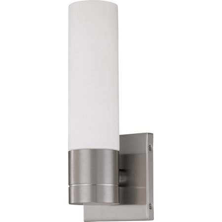 Bathroom Vanity 1 Light With Brushed Nickel Finished Steel GU24 5 inch 13 Watts Brushed Steel Five Light