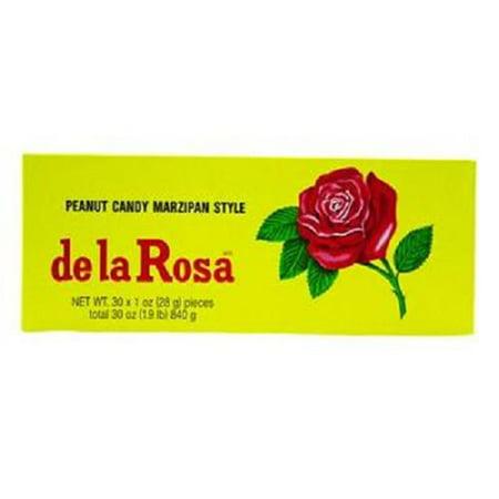 Product Of De La Rosa, Mazapan Peanut Candy, Count 30 (1 oz) - Sugar Candy / Grab Varieties & (Best Mazapan De Pili)