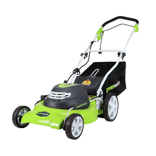 "Click here to buy Greenworks 12Ah 20"" Corded Lawn Mower 2507602 by Sunrise Global Marketing, LLC."