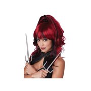 Sugar N Spice Wig 70758 CALIFORNIA COSTUMES Black/Red