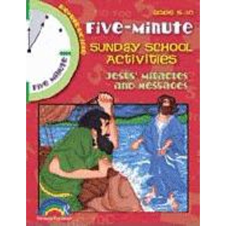 5 Minute Sunday School Activities: Jesus' Miracles & Messages : Ages 5-10 - Halloween Bible School Activities