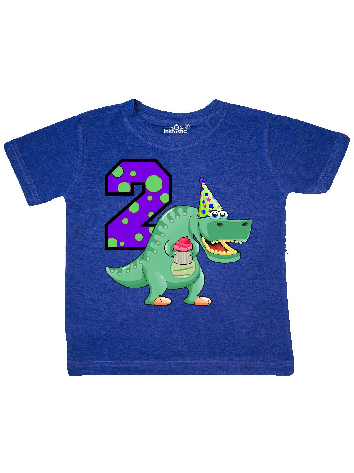 2nd Birthday T-Rex Toddler T-Shirt