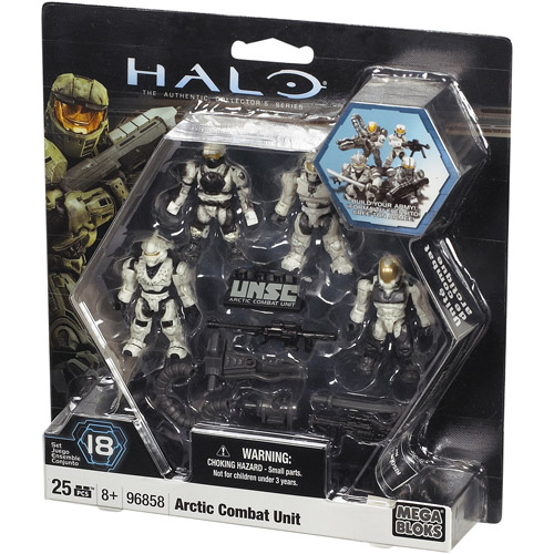 Mega Bloks Halo The Authentic Collector's Series Arctic Combat Unit Set #96858