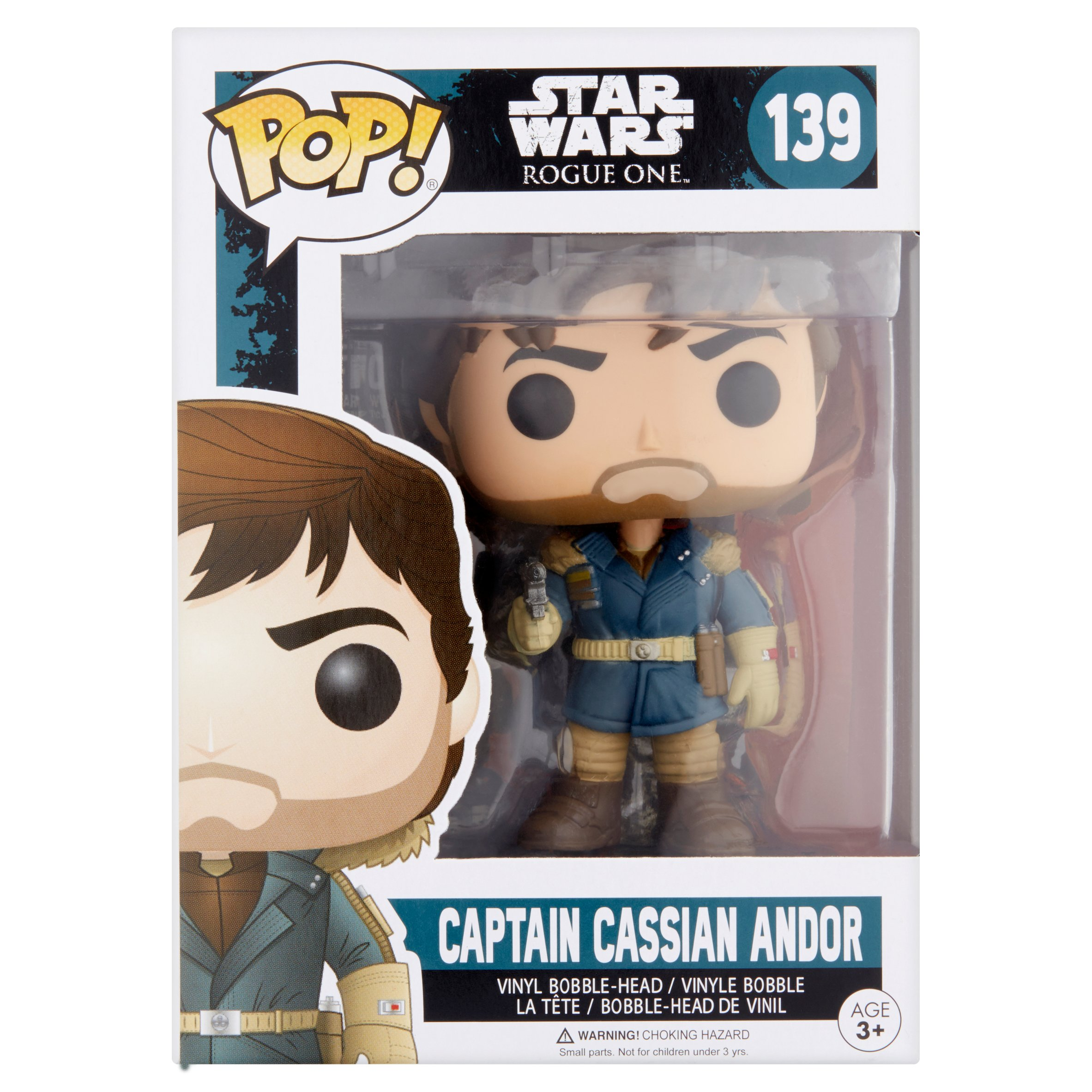Pop! Star Wars Rogue One 139 Captain Cassian Andor Vinyl Bobble-Head Figure Age 3+