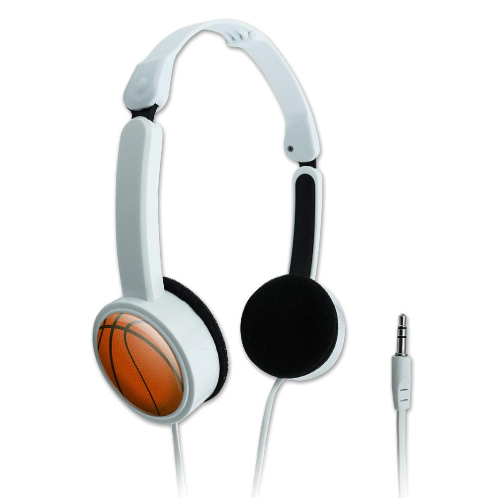 Basketball Novelty Travel Portable On-Ear Foldable Headphones