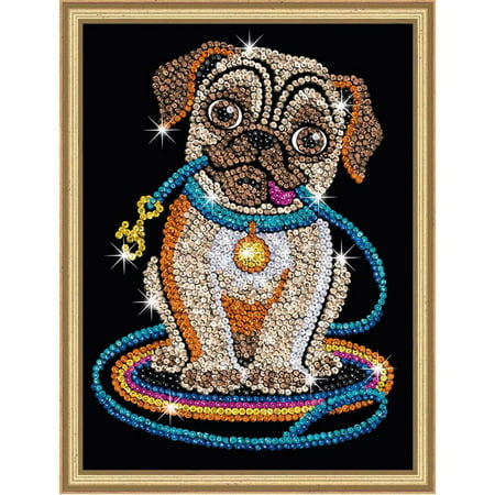 Sequin Art Red - Lily Pug Sparkling Arts and Crafts Picture Kit - New Year Crafts